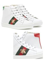 【GUCCI】 Ace leather high-top sneakers チルドレンスニーカー