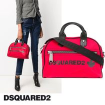 [DSQUARED2]20AW新作 ロゴプリントトートバッグ レッド