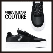 【Versace Jeans Couture】ブラック ロゴ スニーカー
