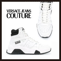 【Versace Jeans Couture】ホワイト ロゴ ハイカットスニーカー