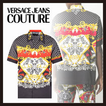【Versace Jeans Couture】バロックプリント シアー シャツ
