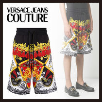 【Versace Jeans Couture】バロックプリント ショートパンツ