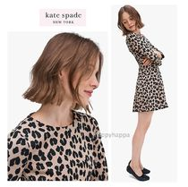 【kate spade】サイズ豊富☆forest feline jacquard dress