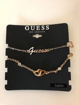 【GUESS】即発〇ロゴ&ハートインターロック〇アンクレット2点