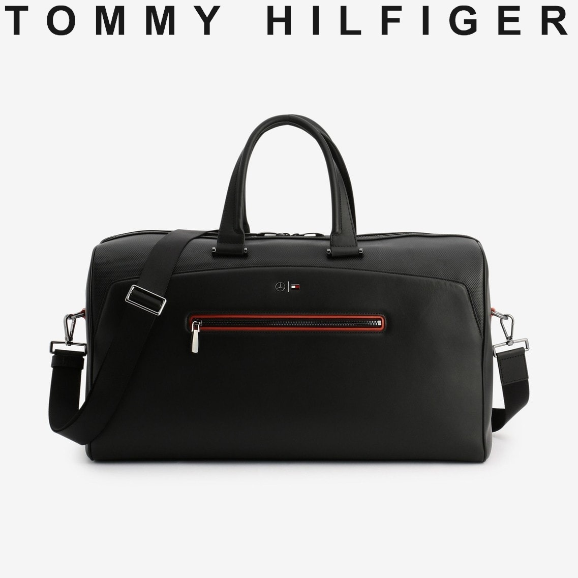 TOMMY HILFIGER Mercedes-Benz Leather Weekend Bag すぐ届く (Tommy Hilfiger/ボストンバッグ) AM06797000