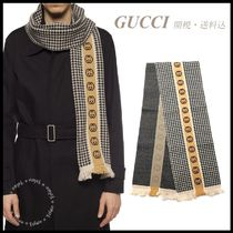 *GUCCI*GG Houndstooth Scarf 関税/送料込