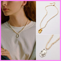 【Hei】warm tone pendant pearl necklace~ネックレス★秋冬コレ