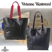 【Vivienne Westwood 】タック メンズ レザートートバッグ