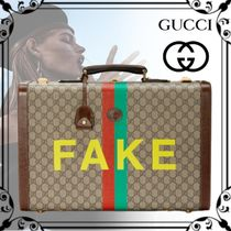 "20AW【GUCCI】◆""FAKE/NOT"" プリント ミディアム スーツケース◆"
