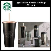[STARBUCK] SS Black & Gold Coldcup  591ml タンブラー