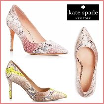 kate spade Valerie スネーク柄ヒールパンプス