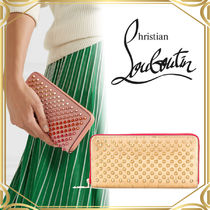 Christain Louboutin VIP SALE Panettone Spikeレザーウォレット