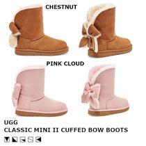 【限定/日本未入荷】UGG CLASSIC MINI II CUFFED BOW ブーツ