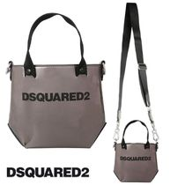 [DSQUARED2]20AW新作 ロゴ入りミニトートバッグ