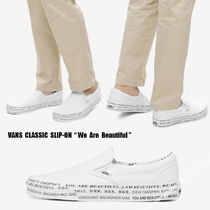 VANS★CLASSIC SLIP-ON★We Are Beautiful★ロゴ★兼用
