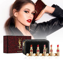 YSL☆ホリデー限定☆ポーチ付き ROUGE VOLUPTE SHINE 5本セット