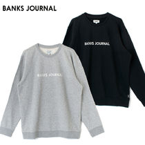 最短翌日着/ BANKS JOURNAL/ LABEL CREW GRAPHIC FLEECE WFL0270