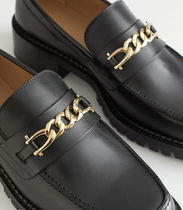 """""""& Other Stories"""" Rope Chain Leather Loafers Black"""