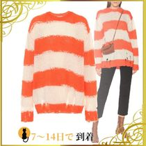 ◆関税込◆Striped oversized sweater