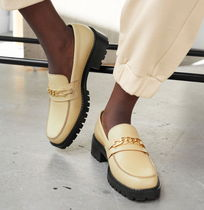 """""""& Other Stories"""" Rope Chain Leather Loafers LightBeige"""