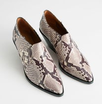 """""""& Other Stories"""" COWBOY ANKLE BOOTS SNAKE"""