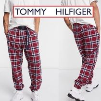 *TOMMY JEANS* ロゴ チェック柄 パンツ【送料込】