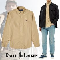 POLO RALPH LAUREN BUTTON DOWN GARMENT DYED OXFORD SHIRT