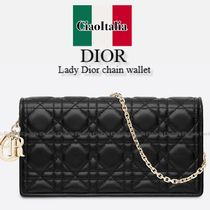 DIOR Lady Dior chain wallet in soft nappa