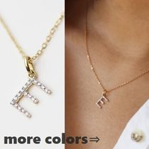 【E and E Project】14K ダイアモンドイニシャルネックレス