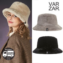 VARZAR Fur logo point bucket hat BBH621 追跡付