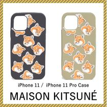 【Maison Kitsune】 関送込 All Over Fox Head iPhone 11 ケース