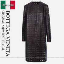 Bottega veneta  CHAINMAIL NAPPA LEATHER COAT