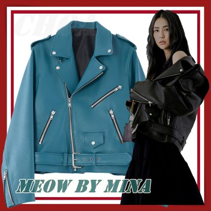 【MEOW BY MINA】Boxy fit rider jacket ユニセックス
