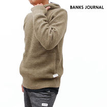 【最短翌日着】BANKS JOURNAL ACROSS KNITWEAR ニット WKN0074