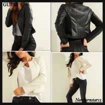 【GUESS】VIPER FAUX-LEATHER/レザージャケット/各色