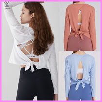 【INJI Active】TIE BACK LONG SLEEVE〜タイバックティーシャツ