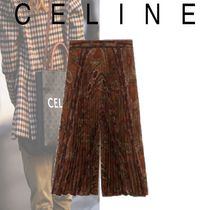 20-21AW 新作 セリーヌ PRINTED PLEATED PLEATED CULOT SKIRT