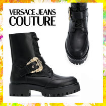 【Versace Jeans Couture】レースアップ ブーツ ブラック