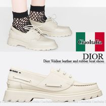 DIOR Dior Walker leather and rubber boat shoes