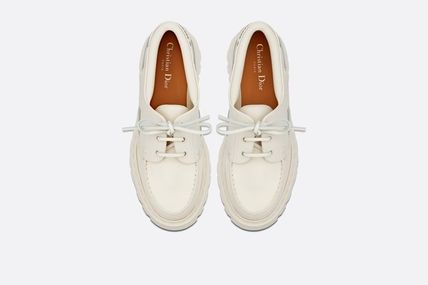 Dior フラットシューズ DIOR Dior Walker leather and rubber boat shoes(5)