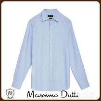 MassimoDutti♪REGULAR FIT HOUNDSTOOTH COTTON SHIRT