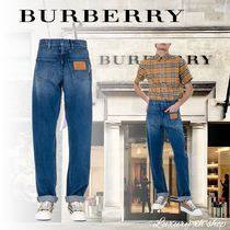 関税送料無料  VIP価格♪ BURBERRY  jeans with leather details