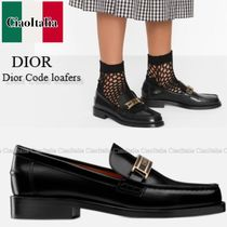DIOR Dior Code polished leather loafers