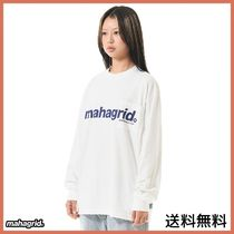 [MAHAGRID] LOGO POCKET LS TEE WHITE