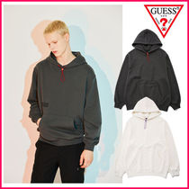 【GUESS】Silicone print overfit hoodie