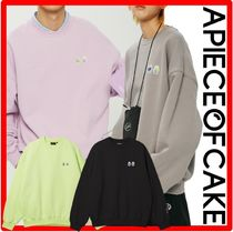 A PIECE OF CAKE(ピースオブケイク) スウェット・トレーナー ☆韓国の人気☆A PIECE OF CAKE☆Double Patch Crewnec.k☆