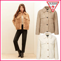【GUESS】Out Pocket Eco Fur Jacket ★MISS-A SUZY 着用★