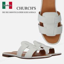 CHURCH'S DEE DEE SMOOTH LEATHER SLIDE SANDALS