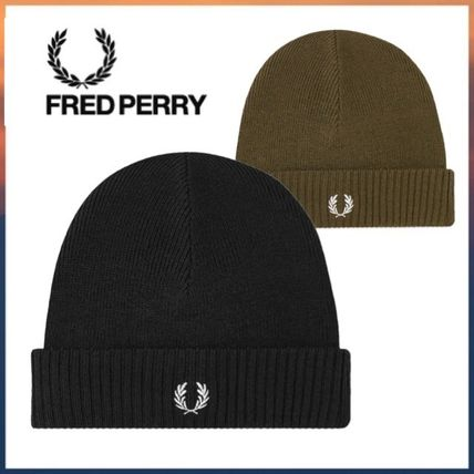 FRED PERRY ニット帽 キャップ 帽子 AUTHENTIC ROLL UP BEANIE