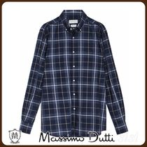 MassimoDutti♪SLIM FIT COTTON CHECK SHIRT